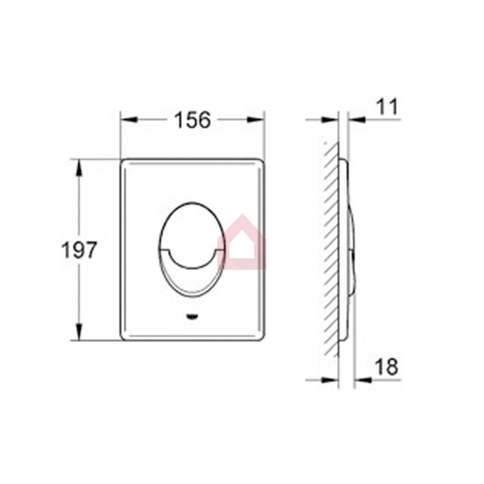 Grohe concealed tank plate oval buy tanks cisterns online at fancybox pooptronica Image collections