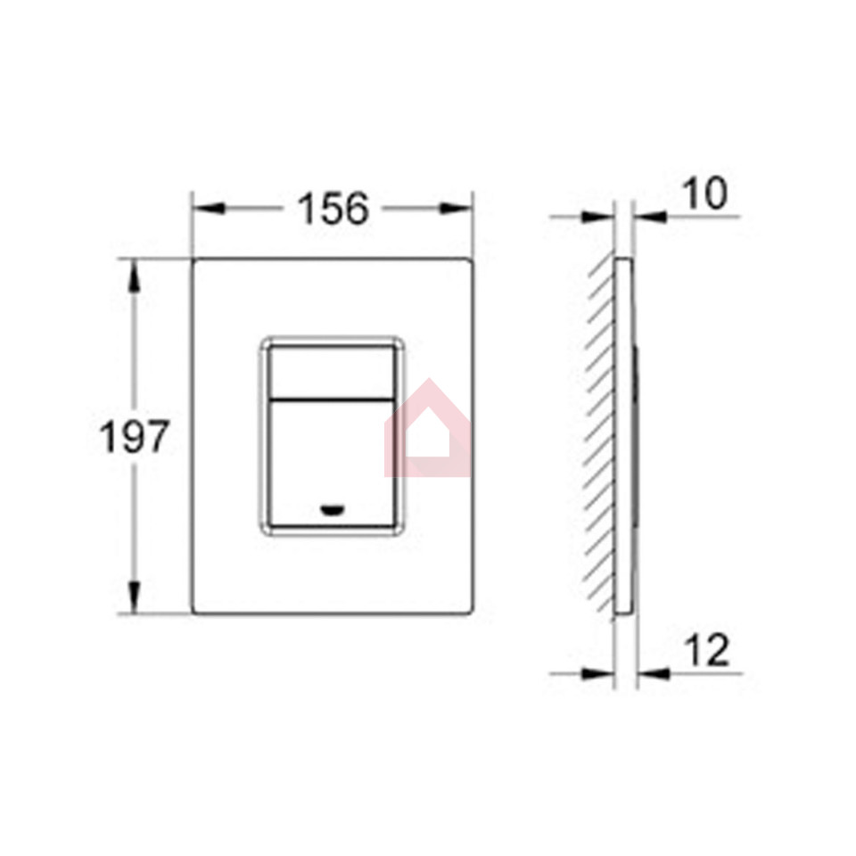 Grohe concealed tank plate square buy tanks cisterns online at fancybox pooptronica Image collections